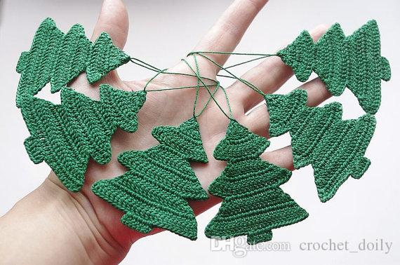 crochet decorations ornament christmas tree cotton crochet christmas tree hanging christmas ornaments set of 100 cotton custom color decorating ornaments