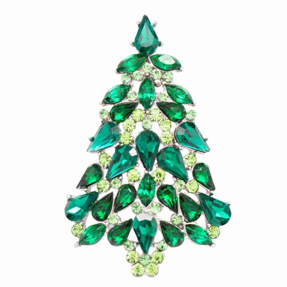 2018 Sepjewelry Fashion Christmas Tree Brooches Broach Pins For ...