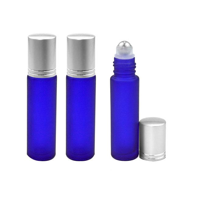 Wholesale 10ml Frosted Glass Roll On Essential Oils Perfume Bottles With Stainless Steel Roller Ball BY DHL./Fedex