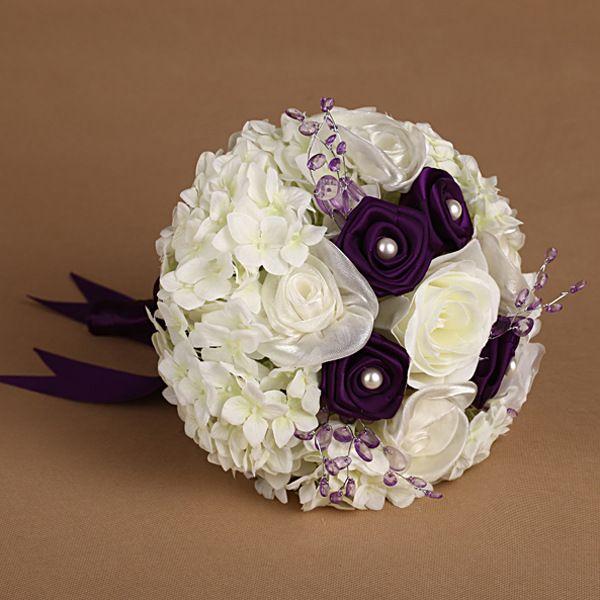 Cheap Silk Flower Bouquets For Weddings: Cheap Spring Summer Wedding Bridal Bouquets Artificial