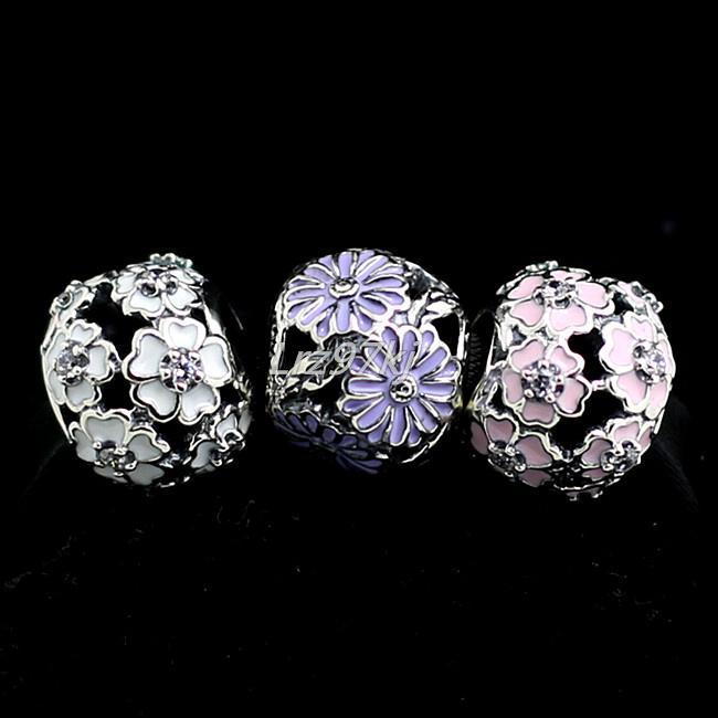 Otantik 925 Gümüş Takılar ve Murano Cam Boncuk Seti Avrupa Pandora Takı Charm Bilezikler-Primrose Setleri Uyar