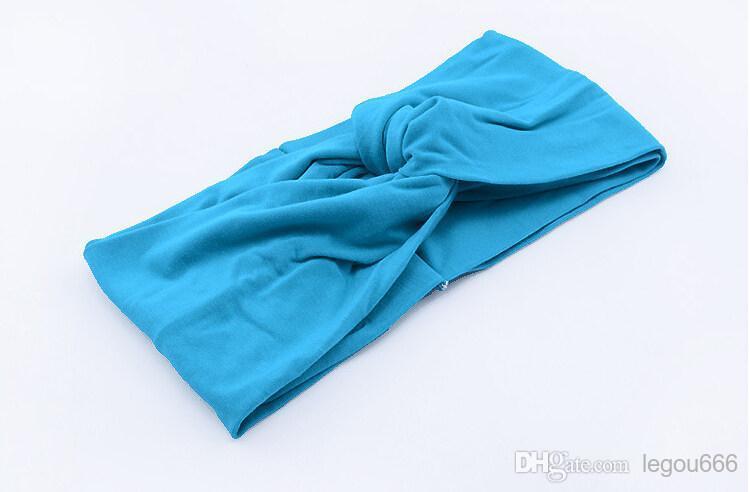 Torcedura del nudo venda del estiramiento marca de lycra turbante banda del pelo cruz diademas yoga headwear accesorios para el cabello muchacha arco envío gratis