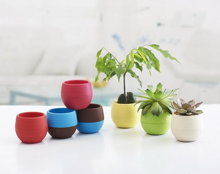 desktop green plants Flower pots planters Home decoration plastic flower vases Mini pots new year bonsai wedding decorative pots