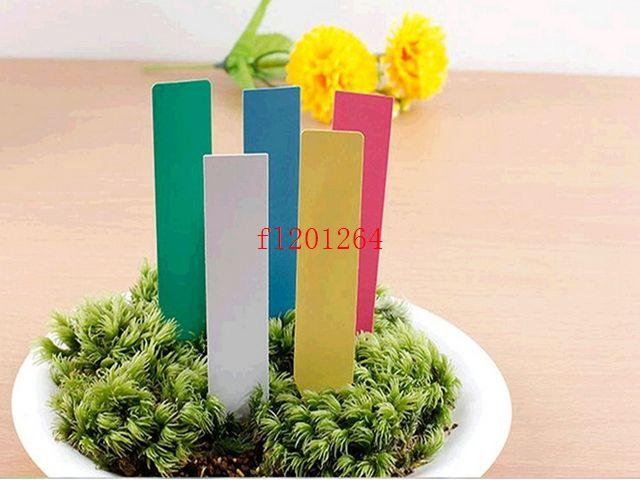 Fedex DHL Бесплатная доставка 18000 шт. / лот красочные цветы этикетки 10*2 см ПВХ завод тег завод этикетки садоводство этикетки