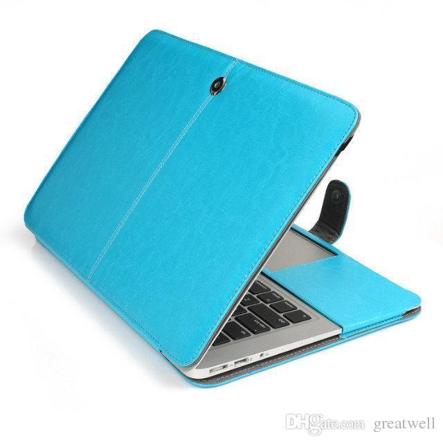 Housse en cuir d'affaires Smart Holster étui de protection pour MacBook Air Pro Retina 11.6 12 13.3 15.4 pouces sac de protection pour ordinateur portable