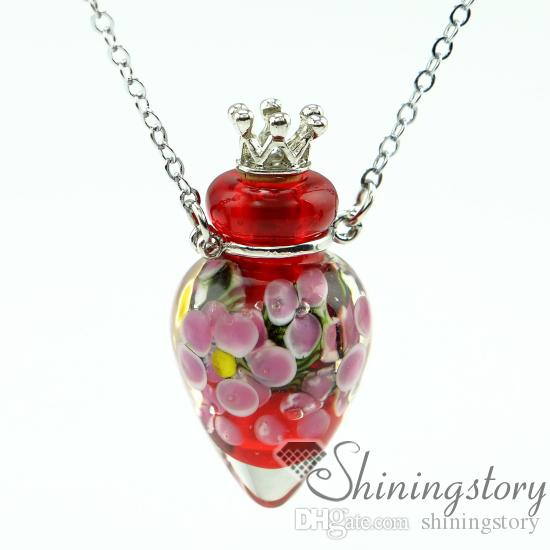 round small perfume bottles aromatherapy diffuser pendant necklaces scent necklace small glass vials necklaces perfume vial necklace