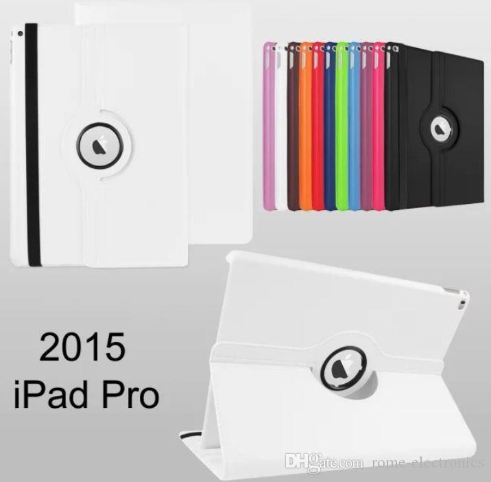 For iPad Pro Tablet Case,360 Degree Rotating Quality PU Leather Cover Stand Protective Shell Flip Cases For iPad Pro 12.9'' inch