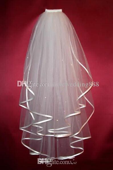 Самые дешевые реальные образцы свадебные вуали атласные краевые вуали для свадебных платьев свадебные платья свадебные аксессуары дешевые в наличии