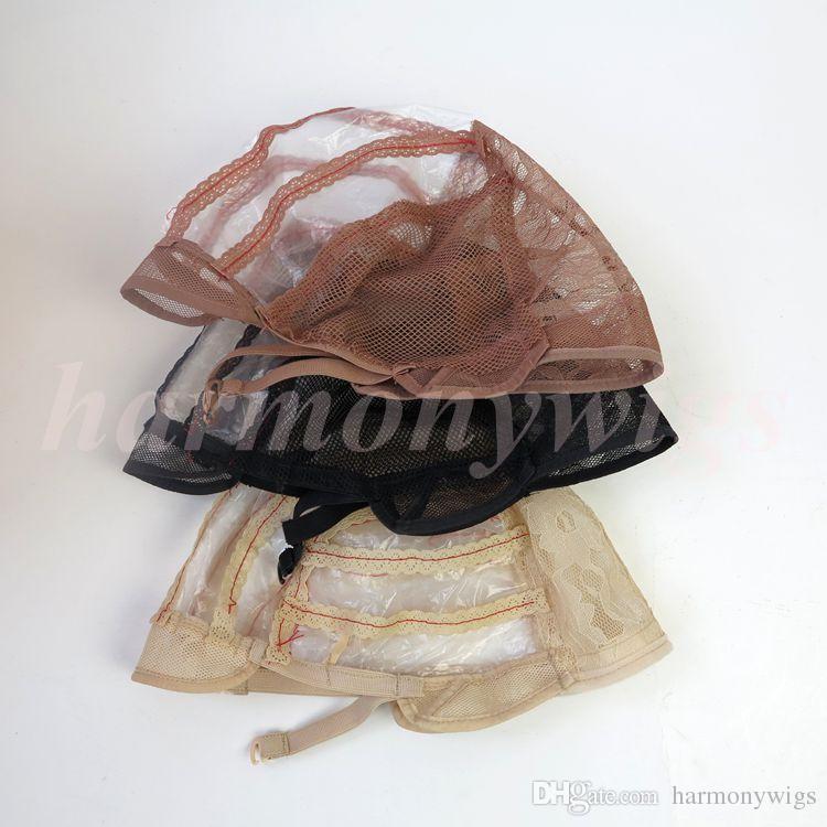 Perruques casquettes pour la fabrication de perruques réglables bretelles dos dentelle suisse pleine dentelle avant perruque cap perruque armure nette extension de cheveux
