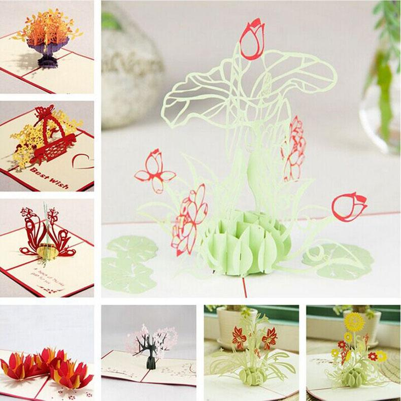 New Arrival 3D Handmade Creative MotherS Day Greeting Gift Cards Thanksgiving Birthday Greetings Online From Chenshuiping