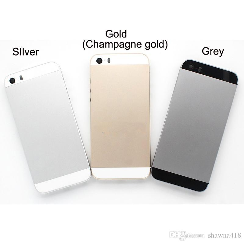 Original Style Housing Cover For iPhone 5S Aluminum Metal Back Case Housing Battery Door Cover Replacement For iPhone 5