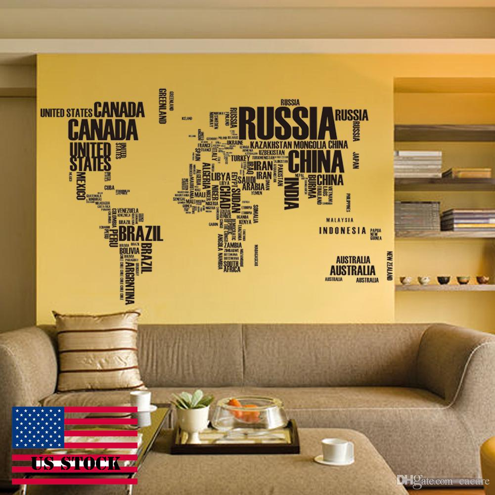 Wallstickers Quote Wall Decals Wall Sticker Quotes Words World Map ...