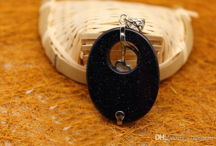 Doğal kristal barış toka ince altın kum Erik nostalji moda yaratıcı kolye