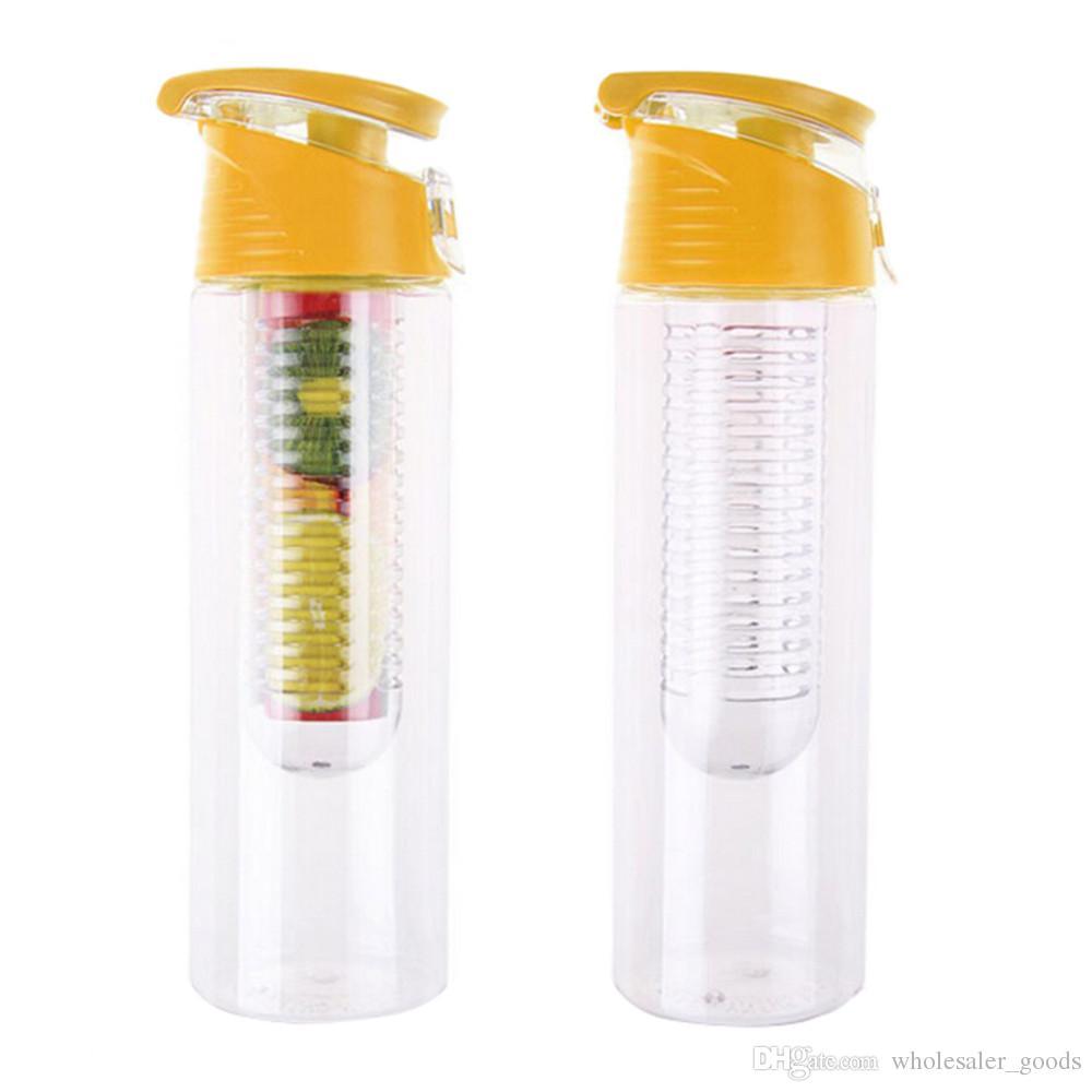 E Juice Bottles Flip Lid Fruit Lemon Juice Cup Infusing Infuser Water Health Portable Bottle Sport Health Lemon Cup Juice Holder Bottles