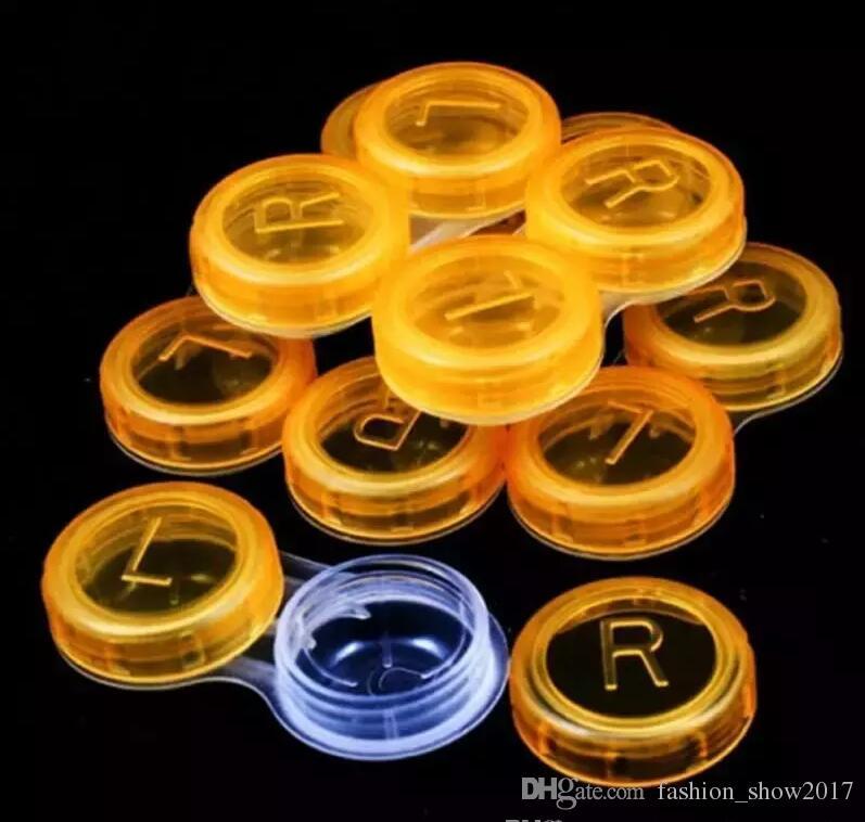 Haute qualité colorée cas Lentilles de contact Boîte de cas Mode Lentilles de contact cadeau promotionnel Livraison gratuite