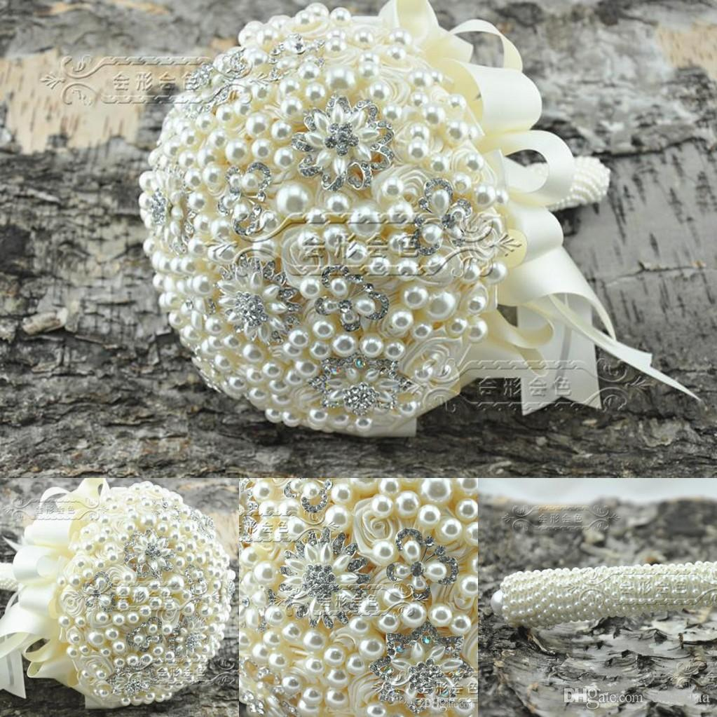 2015 Luxury Full Pearls Crystal Brooch Weddings Bridalbridesmaid