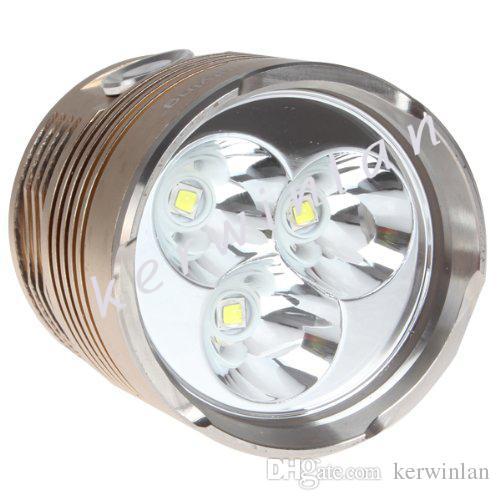 Super Bright 6000 Lumenów 3 x CREE XM T6 Lampa LED 3 tryby Latarka z baterią 4x18650 3.7V do krytych / zewnętrznych kempingu
