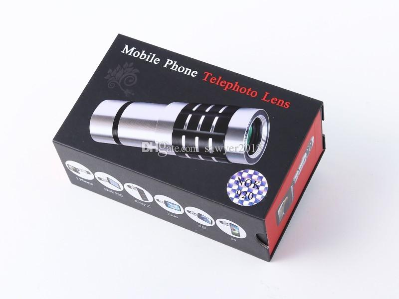 عدسات تكبير عالمية مقاس 18x للهواتف الجوالة بزاوية 18x تكبير عدسات Telephoto Optical Telephoto للهواتف الذكية من iPhone في صندوق البيع بالتجزئة
