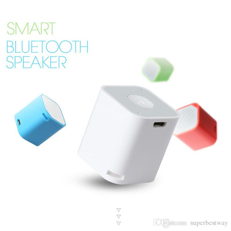 2015 Smallest Bluetooth Speaker Smart Box Subwoofers Portable Remote Shutter Hand Free Speakers With Gift Package DHL Free MIS120
