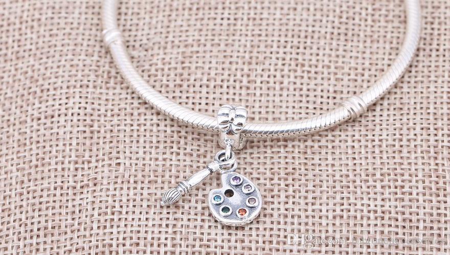 Sterling Silber Charms 925 Ale Painters Utensilien baumelt europäischen Charms für Pandora Armbänder DIY Perlen Zubehör Silberschmuck