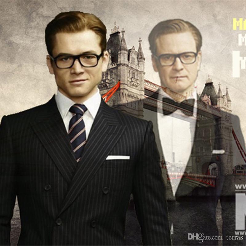 de237218e3dfc Compre Hot Filme Kingsman Glsses Círculo De Ouro Eggsy Harry Hart Óculos  Cosplay Óculos De Armação Wome Men Marca Design Estilo Retro De Terras