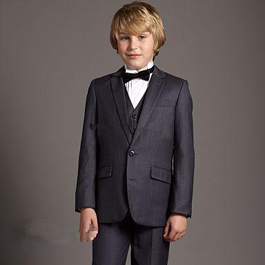 2015 Boy's Formal Occasion Tuxedos Children Kids Wedding Party Tuxedos Boy's Formal Wear Suit ZP689Jacket+pants+vest+Bow Tie