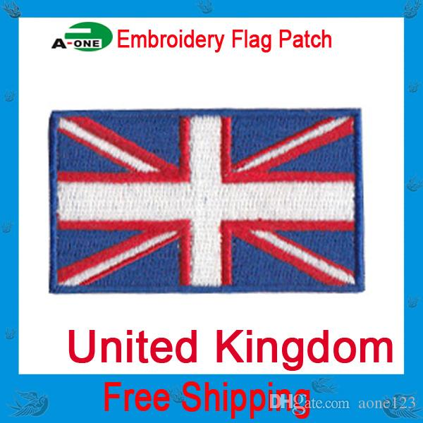 UK Flag Patches For Clothes Jeans England Embroidered Iron On Patch Badges Applique Clothing Decor Accessory