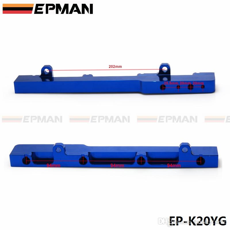 EPMAN Honda K-Series K20 DC5 EP3 jdm Race Billetta in alluminio ad alta portata Gruppo guida carburante blu EP-K20YG