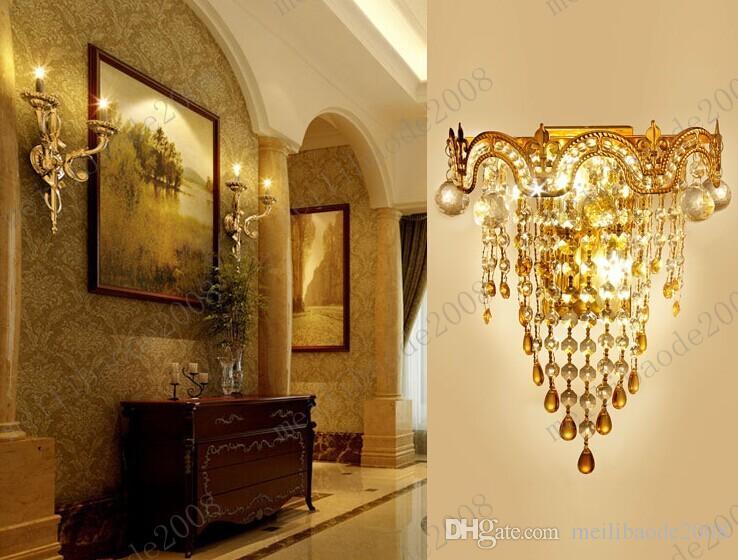 Modern crystal wall lamp modern Crystal Sconce wall Lights living room wall lamp lamps k9 crystal Lighting MYY3145A
