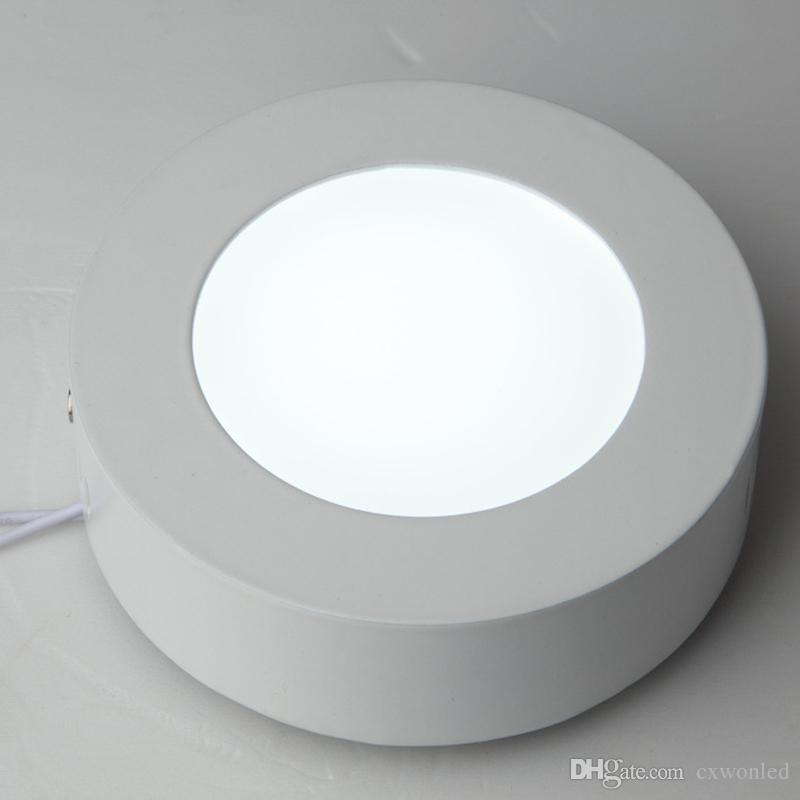 6W 12W 18W 25W 30W 36W Ronda cuadrados llevó Montado en Superficie regulable Panel de luz LED Downlight de iluminación LED downlight de techo 110-240