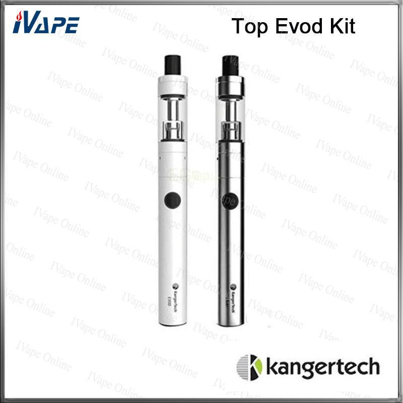 100% Original Kanger Top Evod Kit 1.7ml 650mAh Top Filling Toptank with Evod Battery 650mAh Top EVOD E Cigarette Kits