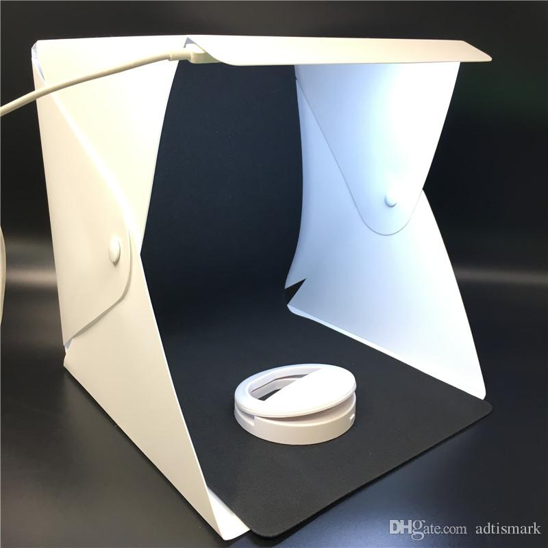 Portable Folding Lightbox Photography Studio Softbox LED Light Soft Box for iPhone Samsang HTC DSLR Camera Photo Background