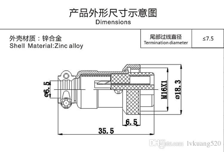 5 Sätze / Kits 3 PIN 16mm GX16-3 Schraube Aviation Anschlussstecker Der Luftfahrt-Stecker Kabelstecker Reguläre Stecker und Buchse