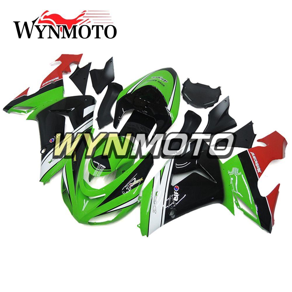 Großhandel Grüne Weiße Volle Verkleidungen Für Kawasaki Zx 10r Zx10r ...