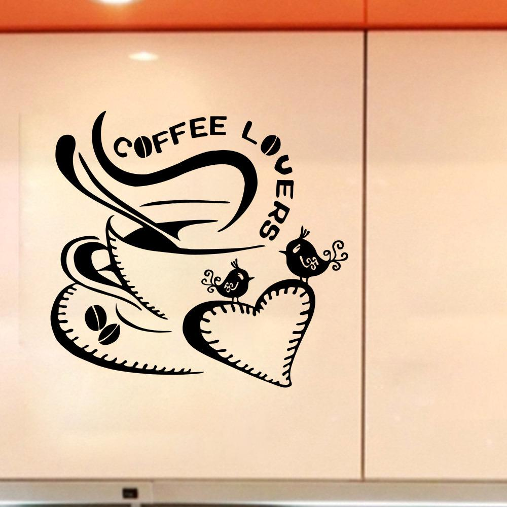 Wall stricker coffee lovers living room wall stickers bedroom see larger image amipublicfo Images