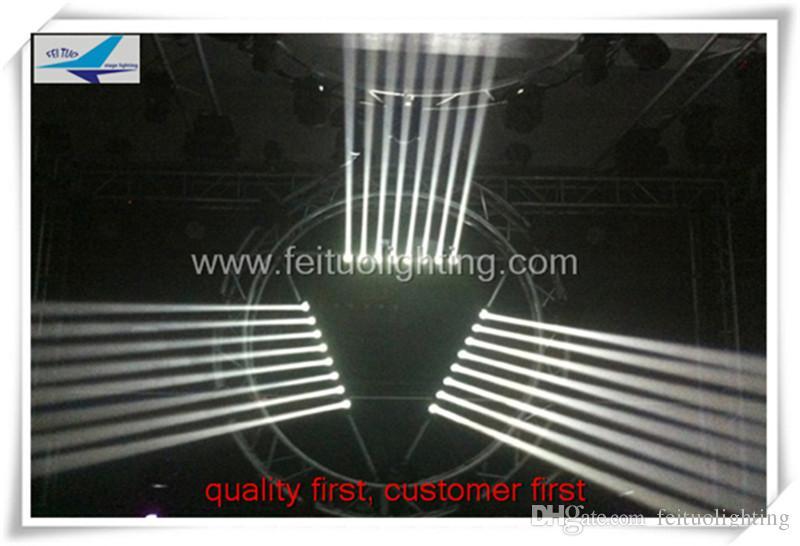 4 / lotto 8x10w White LED moving beam strip / sistema di illuminazione professionale palcoscenico professionale DJ discoteca in movimento