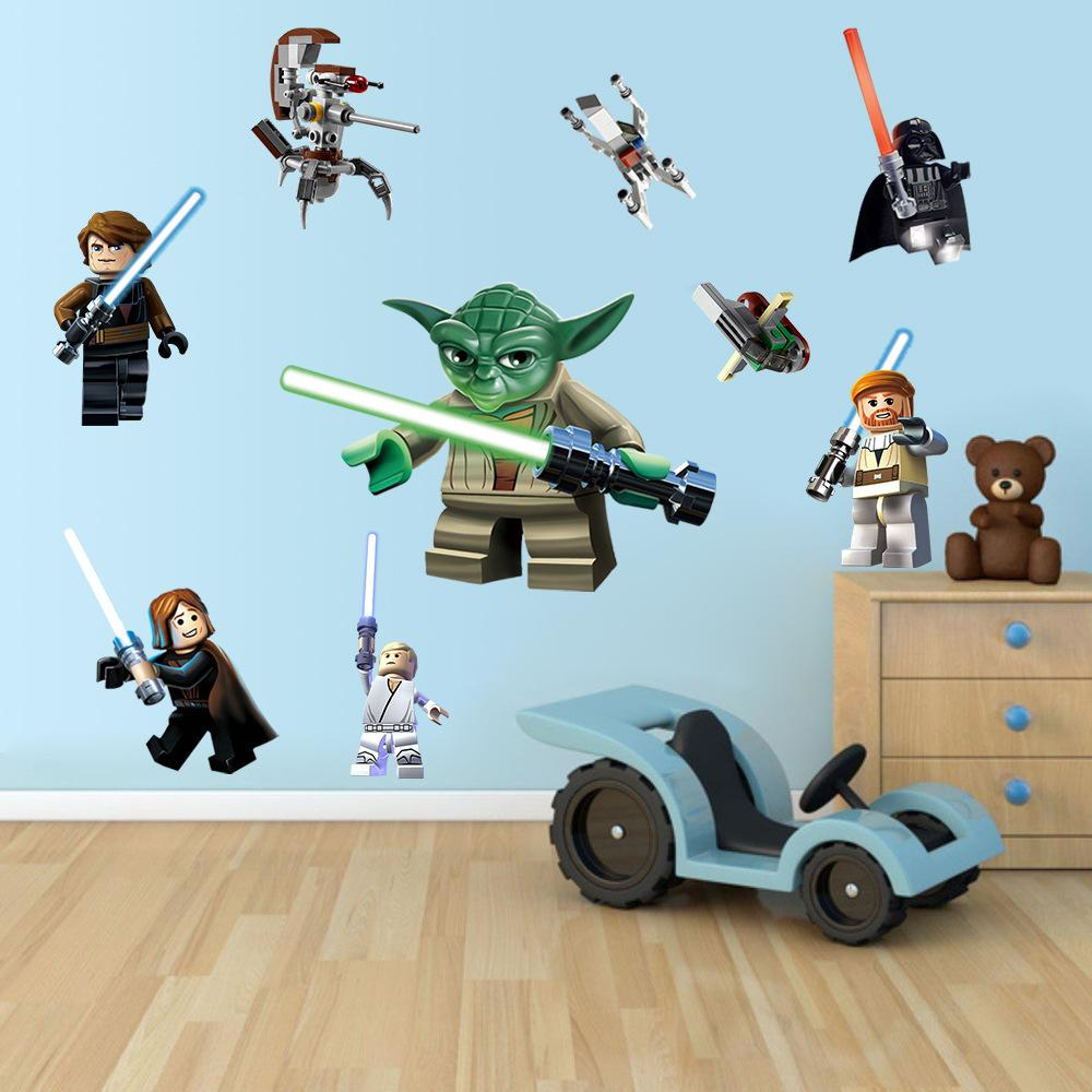 wall stickers yoda lego star wars yoda vader wall sticker removable kids room decor art decal star wars yoda wallpaper decor girl wall stickers girls bedroom wall stickers