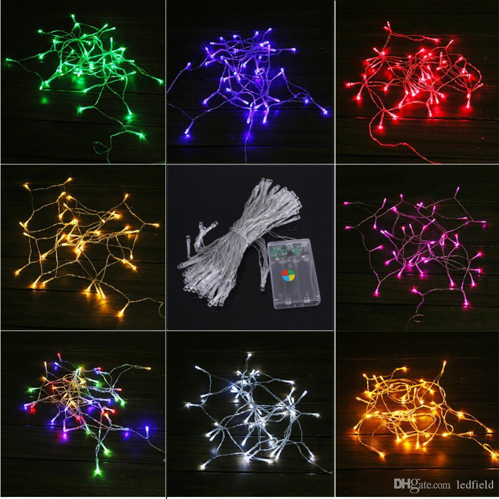 christmas light 10m led string lights 3aa battery operated waterproof fairy led christmas lights for holiday party wedding decoration patio lights string