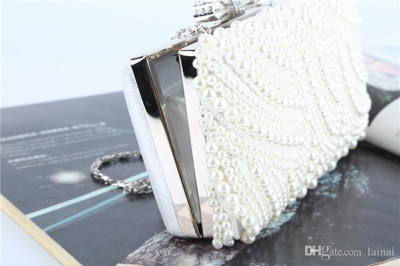 Завод / Retaill / Оптовая новый ручные совершенный бисер мешка вечера с атласным / PU для свадьбы / банкет / партии / Porm / невесты горничной