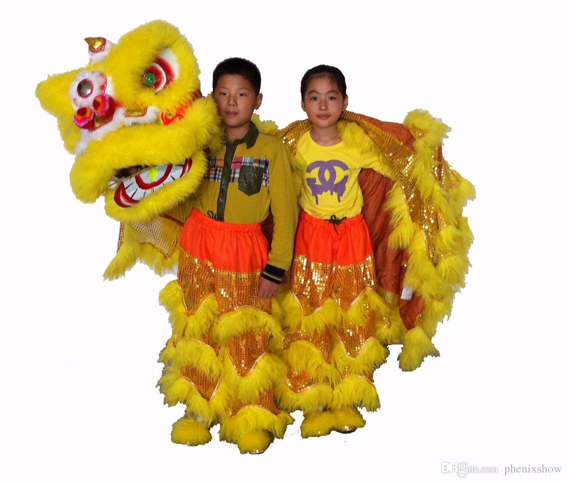 High Quality Pur Lion Dance Costume Pure Wool Southern Kid