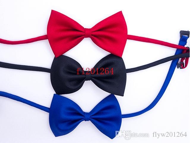 / FedEx DHL Livraison GRATUITE LIVRAISON PET NOUVEAU Cravate Cravate Cravate Bowtie Cat Cravate Cadre Pet Toilettage Fournitures 19 couleurs
