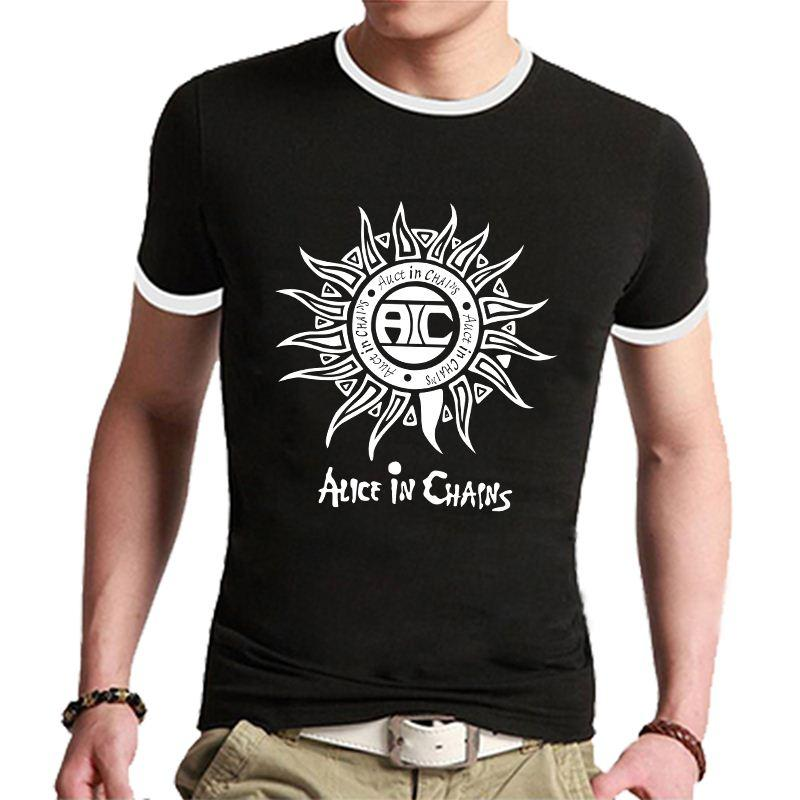 New Arrival Alice In Chains Sun Relax Design Shirts Man Plus Size ...