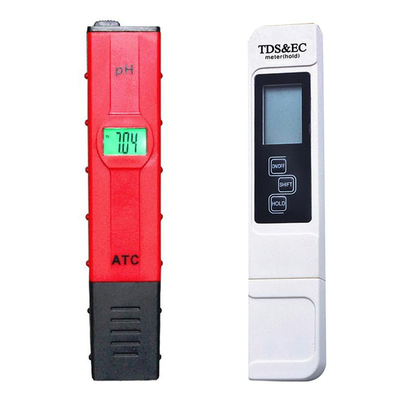 Freeshipping Portable Digital PH Meter + TDS Tester Pocket Aquarium LCD PH Value Test Pen TDS3 Comprobador de la calidad del agua LCD Acuario Pool Monitor