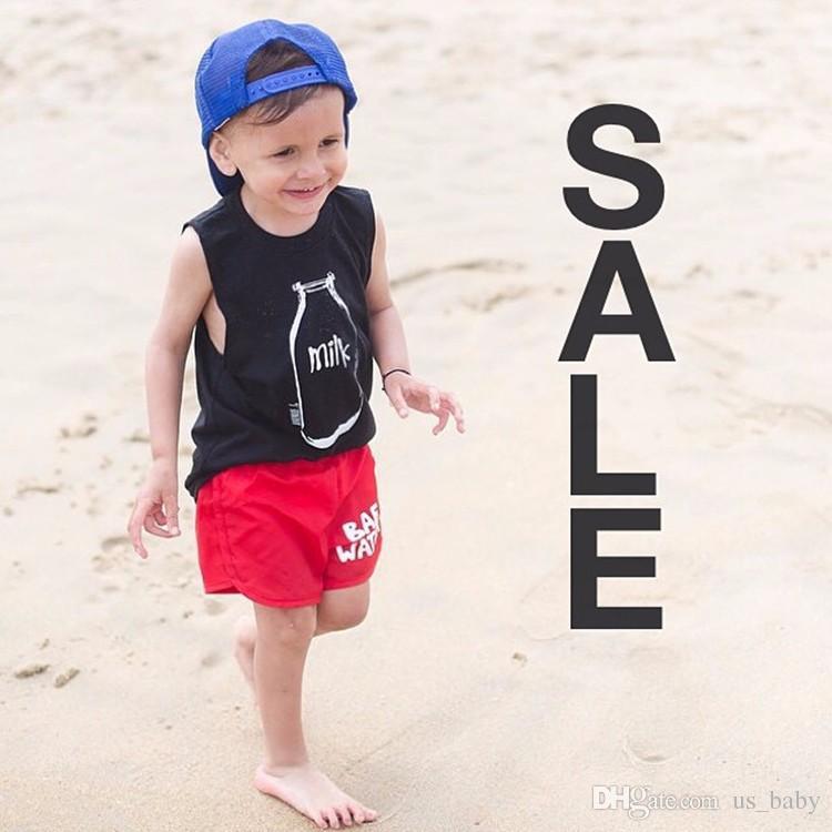 Bobo Choses Kids vest Milk bottle Printed Cotton Sleeveless Baby Boys girls Tshirts 2016 Children Clothing owlbaby cute summer waistcoat