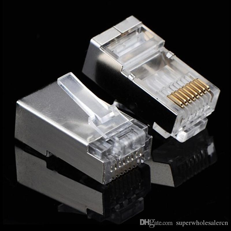 Rj45 Clear Head Rj 45 Cat6 Metal Shield Modular Plug
