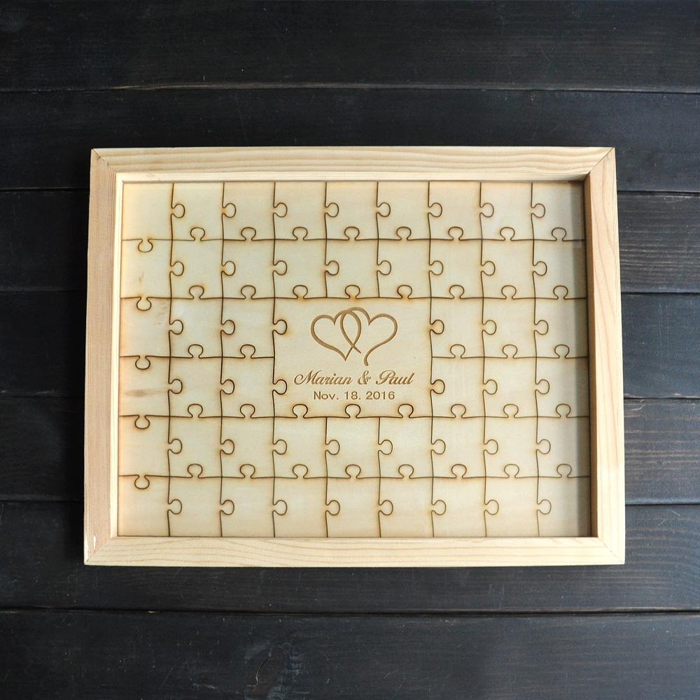 Wholesale Personalized Wedding Puzzle Piece Guestbook,Alternative ...