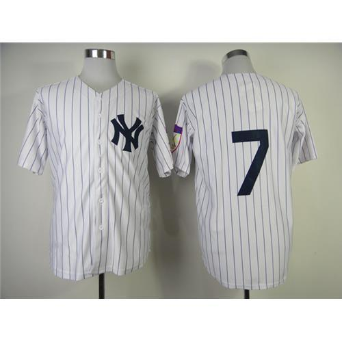 Yankees  7 Mickey Mantle Baseball Jerseys White Throwback Baseball Shirts  Authentic 1951 Home Jersey Discount Athletic Uniforms Hot Sale UK 2019 From  ... 6e94364df80