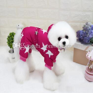 Thick Pet Dog Winter Clothes Winter Waterproof Star Printed Dog Jacket Coat Fashion Pet Costume Clothing Warm Coat For Chihuahua Top Quality