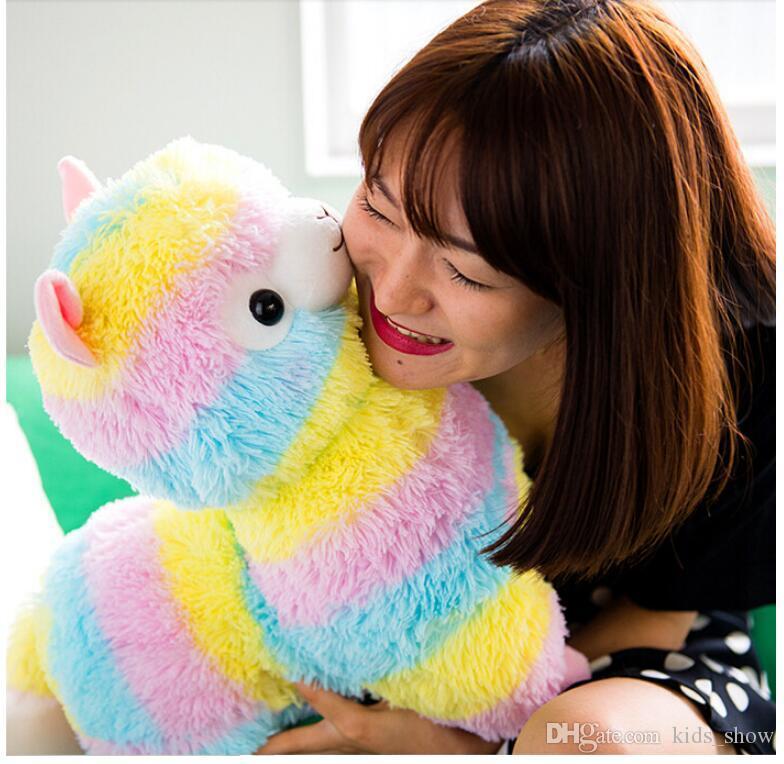 17см милая радуга альпакассо каваи альпака лама арпакассо мягкая плюшевая игрушка кукла чучела мальчик девочка подарок на день рождения
