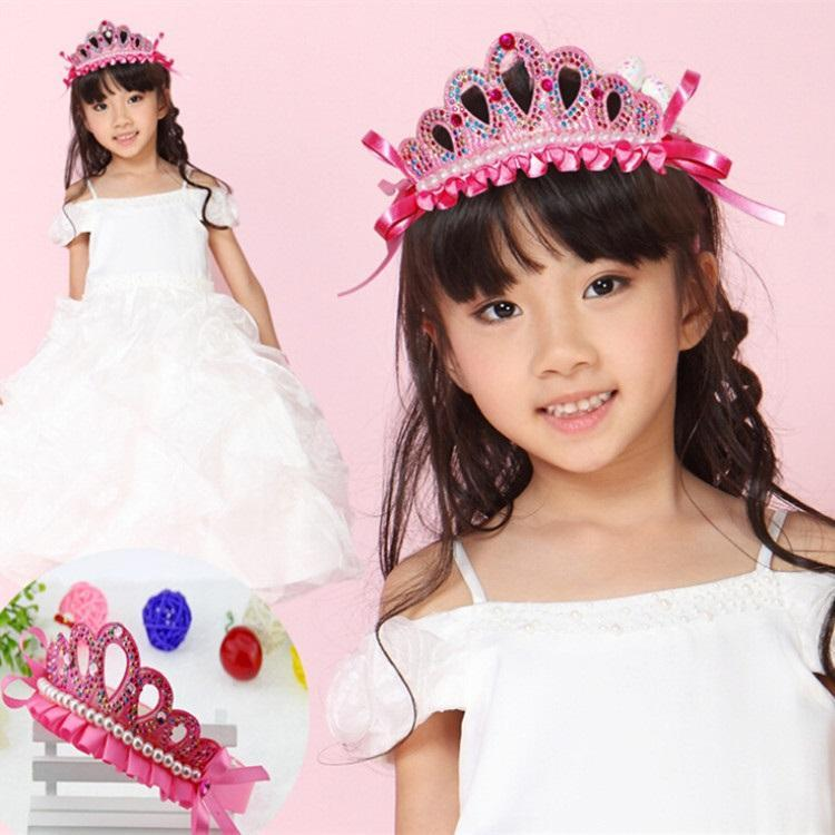 Pearl Crown Headbands Wreath Party Wedding Girls Crystal Crowns Hair Childrens Accessories Prom From Hkayt 097